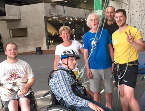 Schnupperklettern für Menschen mit und ohne Behinderung
