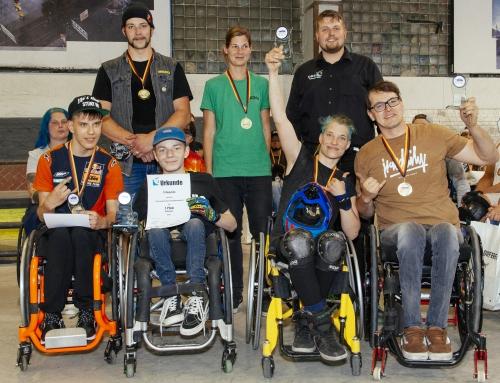 RSC Rheinland Athleten dominieren die offene Deutsche Meisterschaft im WCMX (Rollstuhlskaten) in Berlin